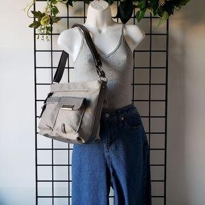 Rosetti Gray Shoulder Crossbody Bag